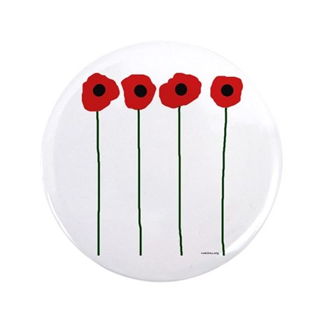 "Poppies 3.5"" Button"