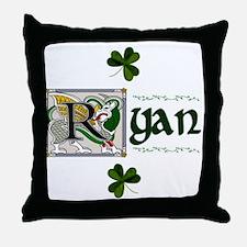 Ryan Celtic Dragon Throw Pillow