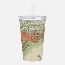 Vintage Geological Map Acrylic Double-wall Tumbler