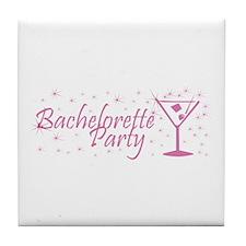 Bachelorette Party - Dusty Ro Tile Coaster