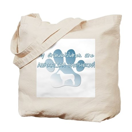 Australian Shepherd Grandchildren Tote Bag