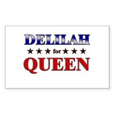 DELILAH for queen Rectangle Decal