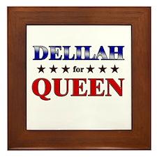 DELILAH for queen Framed Tile