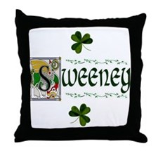 Sweeney Celtic Dragon Throw Pillow