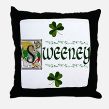 Sweeney Celtic Dragon Throw Pillow