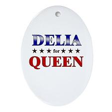 DELIA for queen Oval Ornament
