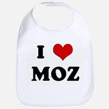 I Love MOZ Bib