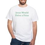 Jesus and Prius White T-Shirt