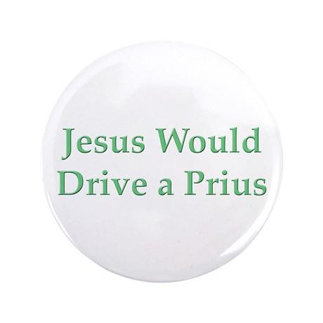 """Jesus and Prius 3.5"""" Button"""