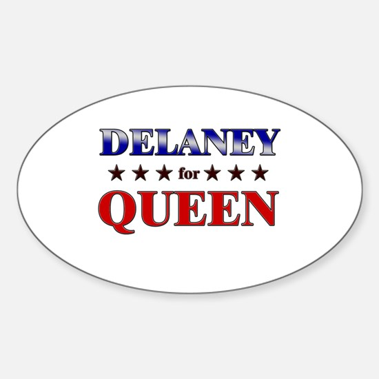 DELANEY for queen Oval Decal
