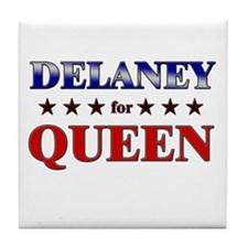 DELANEY for queen Tile Coaster