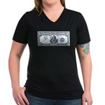 Injun Money Women's V-Neck Dark T-Shirt
