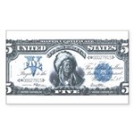 Injun Money Rectangle Sticker
