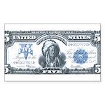 Injun Money Rectangle Sticker