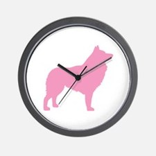Pink Schipperke Wall Clock