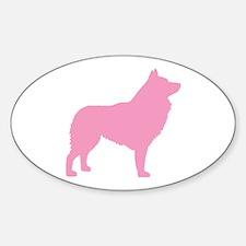 Pink Schipperke Oval Decal