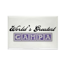 World's Greatest Gampa Rectangle Magnet