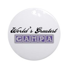 World's Greatest Gampa Ornament (Round)