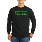 Jesus and Prius Long Sleeve Dark T-Shirt