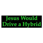 Jesus and Hybrid Bumper Sticker