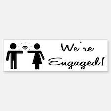 Engagement Bumper Bumper Bumper Sticker