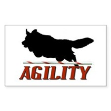 Agility Sillhouette Rectangle Decal
