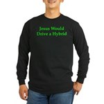 Jesus and Hybrid Long Sleeve Dark T-Shirt