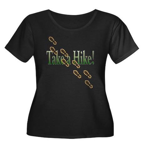 Take a Hike! Women's Plus Size Scoop Neck Dark T-S