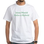 Jesus and Hybrid White T-Shirt