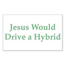 Jesus and Hybrid Rectangle Decal