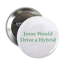 """Jesus and Hybrid 2.25"""" Button"""