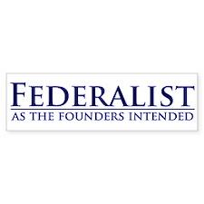 Federalist Bumper Bumper Sticker