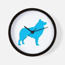 Blue Schipperke Wall Clock