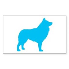 Blue Schipperke Rectangle Decal