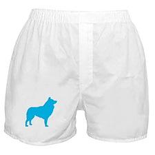 Blue Schipperke Boxer Shorts