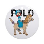Girl Polo Ornament (Round)