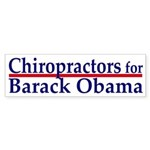 Chiropractors for Barack Obama sticker