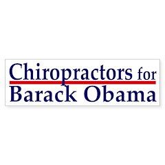 Chiropractors for Barack Obama sticker