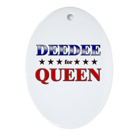 DEEDEE for queen Oval Ornament