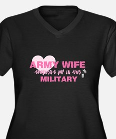ARMY Wife -- thoughest job Women's Plus Size V-Nec