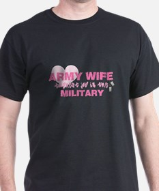 ARMY Wife -- thoughest job T-Shirt