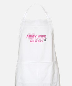 ARMY Wife -- thoughest job BBQ Apron