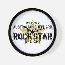Australian Shepherd Rock Star Wall Clock