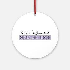 World's Greatest Grandmom Ornament (Round)