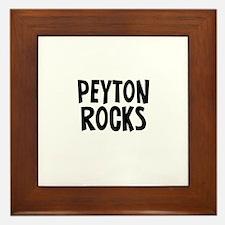 Peyton  Rocks Framed Tile