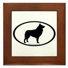Schipperke Oval Framed Tile