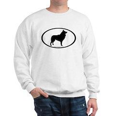 Schipperke Oval Sweatshirt