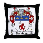 Jennings Family Crest Throw Pillow