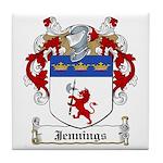 Jennings Family Crest Tile Coaster