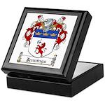 Jennings Family Crest Keepsake Box